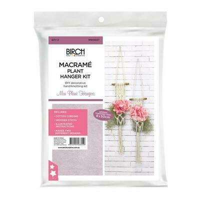 Macrame Wall Hanging Kit - Mini Plant Hangers