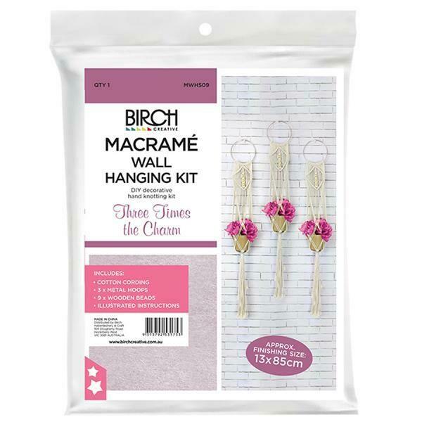 Macrame Wall Hanging Kit - Three Times the Charm