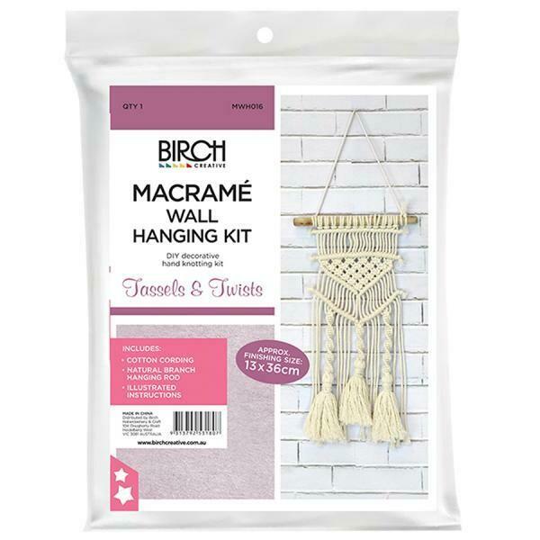 Macrame Wall Hanging Kit - Tassels & Twists