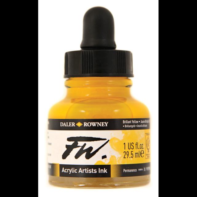Daler- Rowney FW Acrylic Artist's Ink - Brilliant Yellow 29.5ml