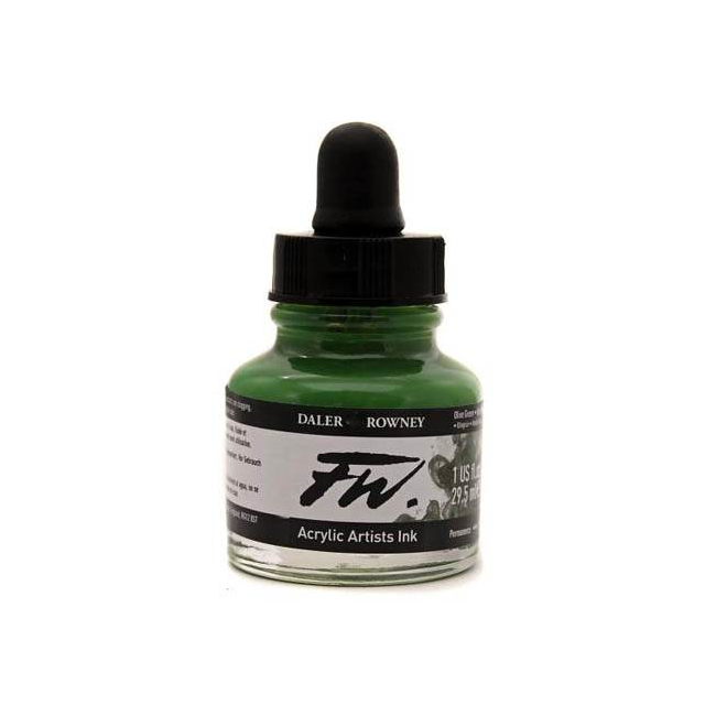 Daler- Rowney FW Acrylic Artist's Ink - Olive Green 29.5ml