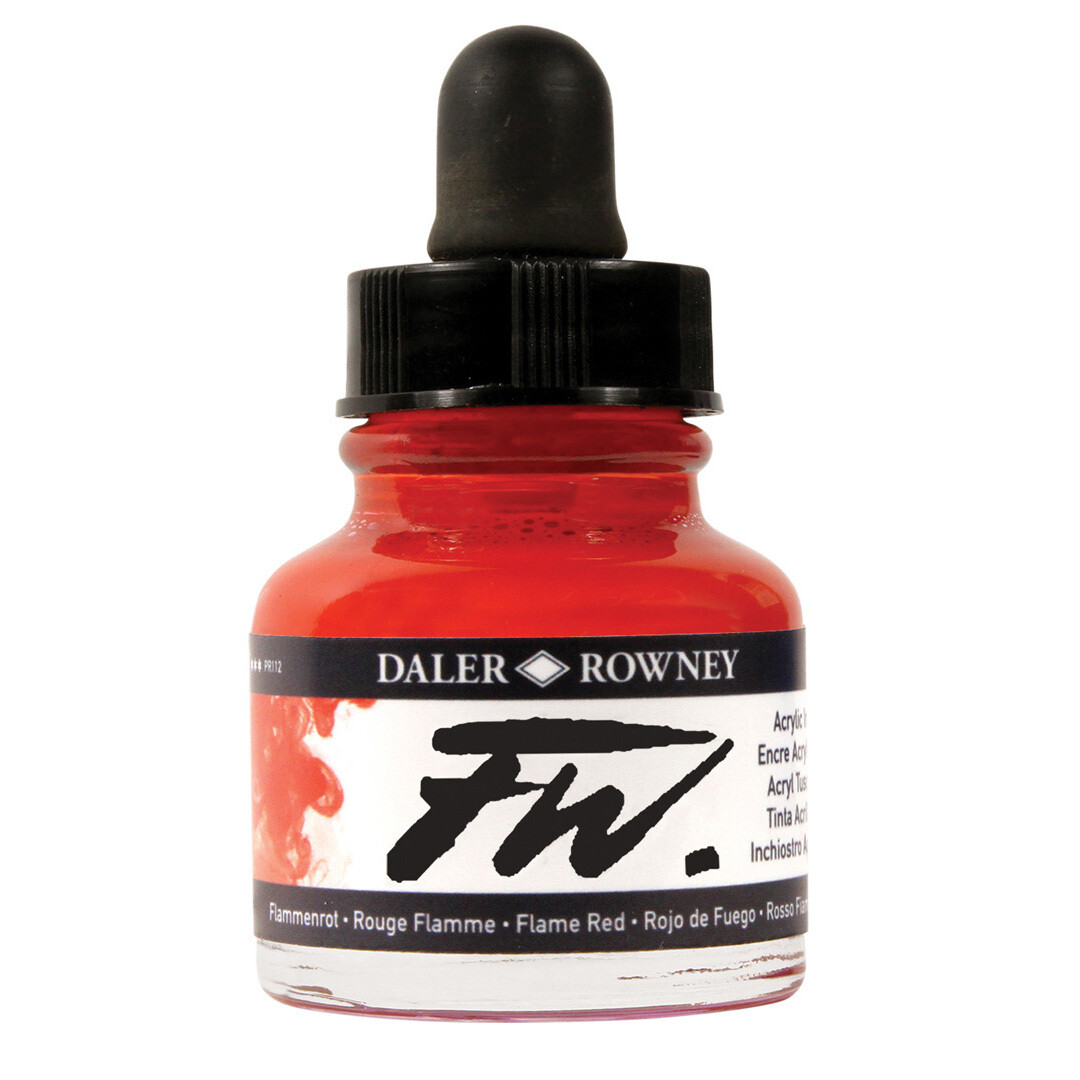 Daler- Rowney FW Acrylic Artist's Ink - Flame Red 29.5ml