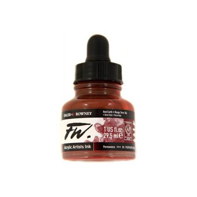 Daler- Rowney FW Acrylic Artist's Ink - Red Earth 29.5ml