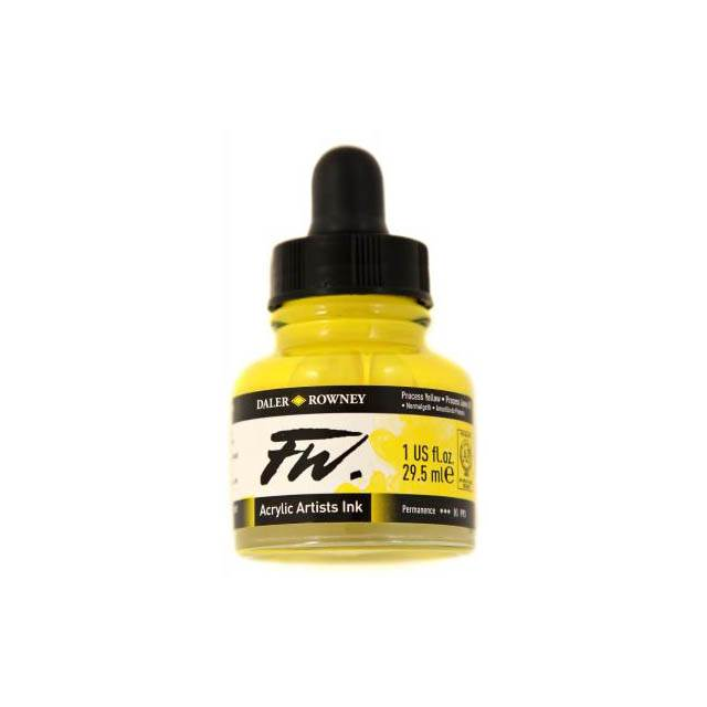 Daler- Rowney FW Acrylic Artist's Ink - Process Yellow 29.5ml