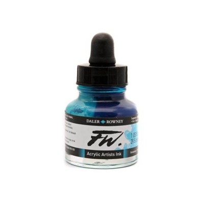 Daler- Rowney FW Acrylic Artist's Ink - Turquoise 29.5ml