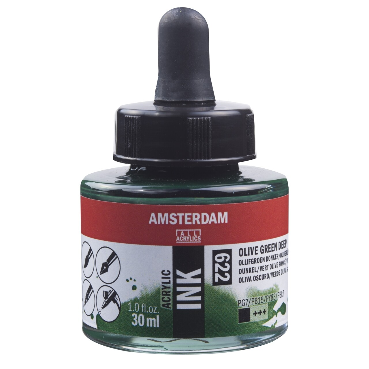 Amsterdam Acrylic Ink - Olive Green Deep
