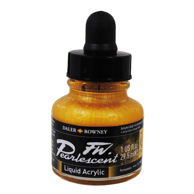 Daler-Rowney FW Pearlescent Acrylic Ink - Autumn Gold 29.5ml