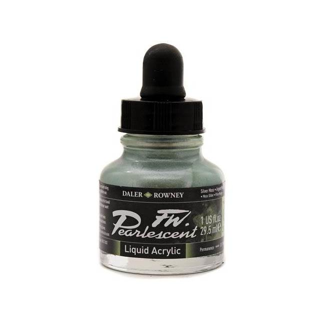 Daler-Rowney FW Pearlescent Acrylic Ink - Silver Moss 29.5ml