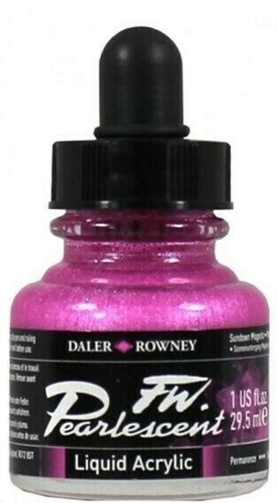 Daler-Rowney FW Pearlescent Acrylic Ink - Sundown Magenta 29.5ml