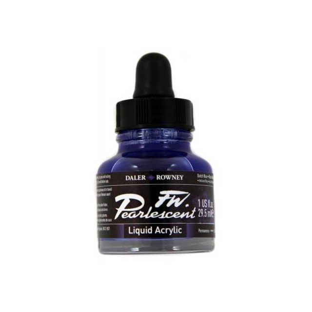 Daler-Rowney FW Pearlescent Acrylic Ink - Dutch Blue 29.5ml