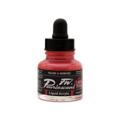 Daler-Rowney FW Pearlescent Acrylic Ink - Volcano Red 29.5ml