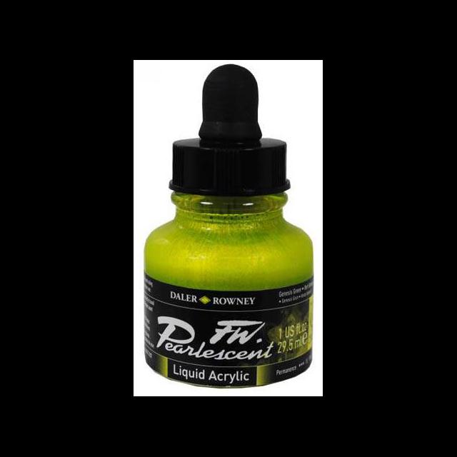 Daler-Rowney FW Pearlescent Acrylic Ink - Genesis Green 29.5ml