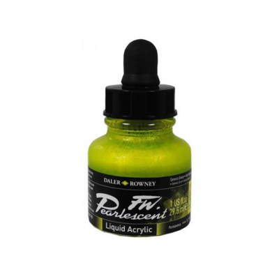 Daler-Rowney FW Pearlescent Acrylic Ink - Genesis Green 29.5ml