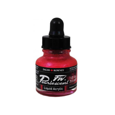 Daler-Rowney FW Pearlescent Acrylic Ink - Hot Mama Red 29.5ml