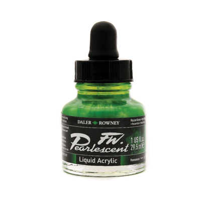 Daler-Rowney FW Pearlescent Acrylic Ink - Macaw Green 29.5ml