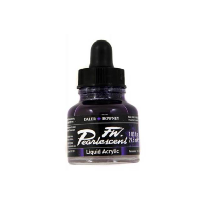 Daler-Rowney FW Pearlescent Acrylic Ink - Moon Violet 29.5ml