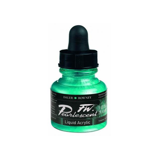 Daler-Rowney FW Pearlescent Acrylic Ink - Waterfall Green 29.5ml