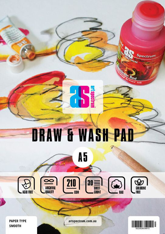 Art Spectrum® Draw & Wash Paper Pad - Smooth A5