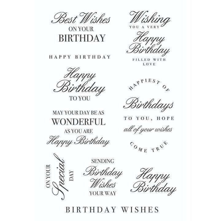 Birthday Wishes - Clear Stamps
