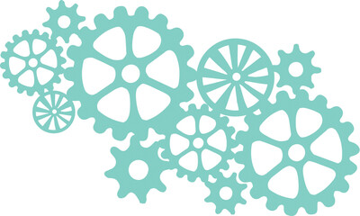 Decorative Die - Cogs Texture