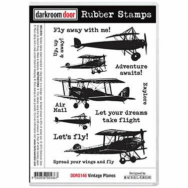 Rubber Stamp Set - Vintage Planes