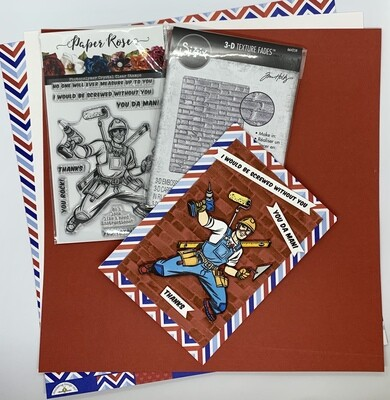 Super Tradie Card - Paper and Embellishment Pack