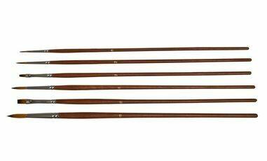 Golden Brown Nylon Brush Set of 6