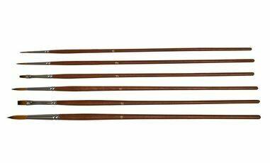Golden Brown Nylon Brush Set of 6