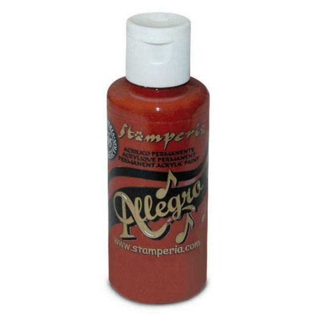 Stamperia Allegro Acrylic Paint - Brick Red 59ml