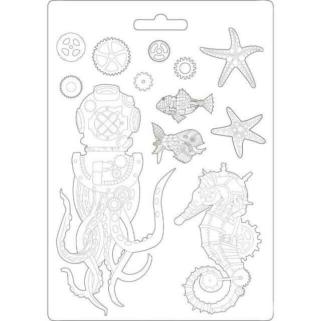 Stamperia A4 Soft Maxi Moulds - Sea World Octopus