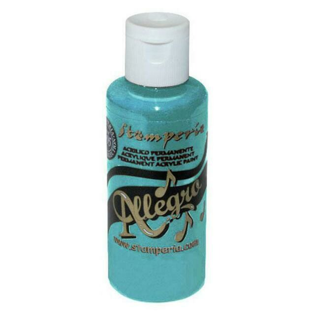 Stamperia Allegro Acrylic Paint - Indian Turquoise 59ml
