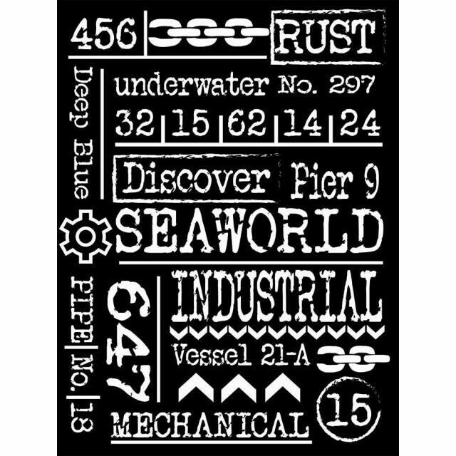 Sea World Writings - Thick Stencil 15X20cm