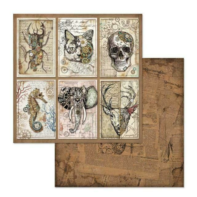"Mechanical Fantasy Cards - 12""x12"" Patterned Paper"