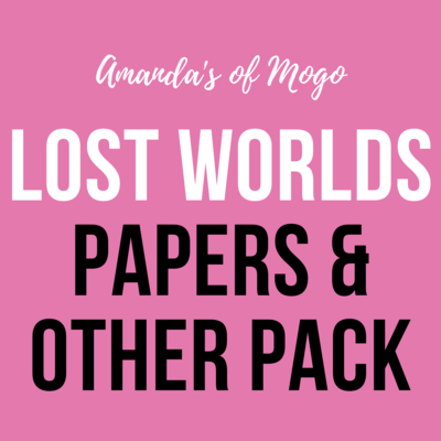 Antonis Tzanidakis' Lost Worlds - Papers & Other Pack