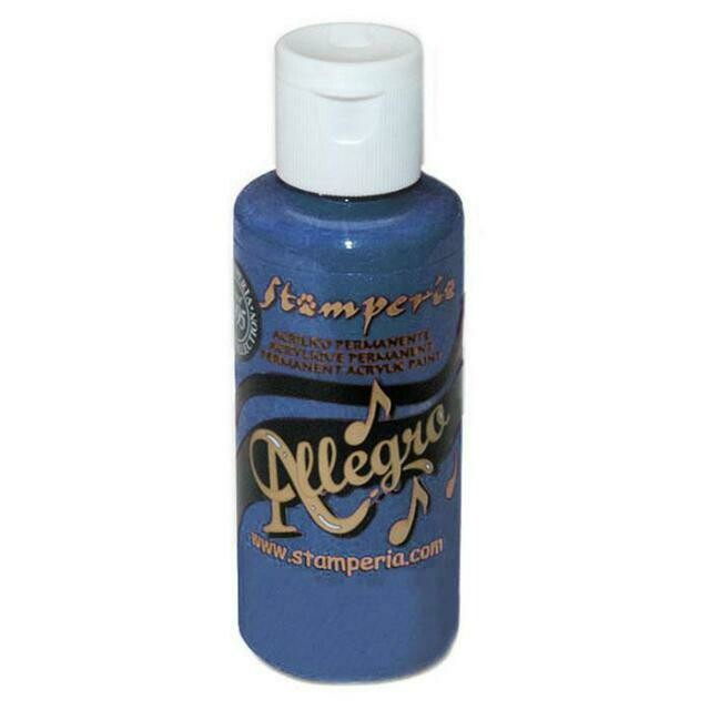 Stamperia Allegro Acrylic Paint - Blue Aviation 59ml