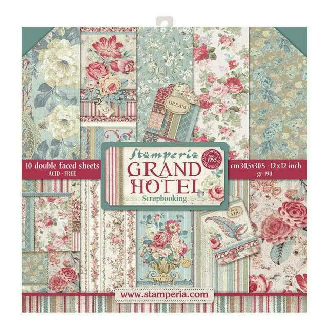 "Grand Hotel - Stamperia Double-sided Paper Pad 12""x12"""