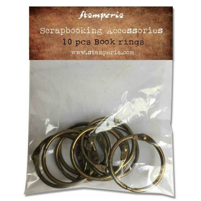 10 Book Rings - Burnished