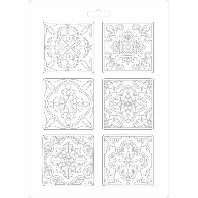Stamperia A4 Soft Maxi Moulds - Azulejos