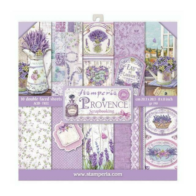 """Provence - Stamperia Double-sided Paper Pad 8""""x8"""""""