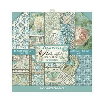 Azulejos - Stamperia Double-sided Paper Pad 8
