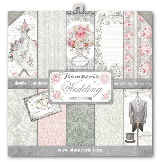 """Wedding - Stamperia Double-sided Paper Pad 12""""x12"""""""