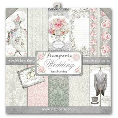Wedding - Stamperia Double-sided Paper Pad 12