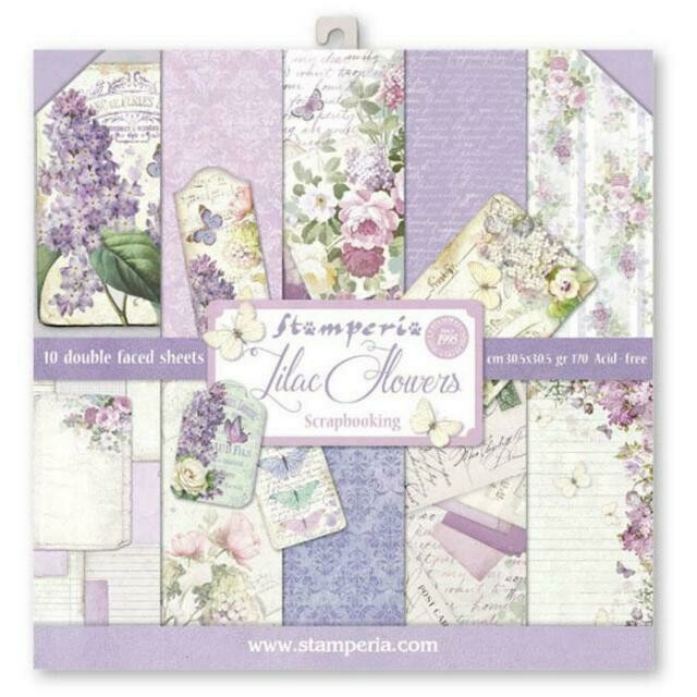 "Lilac - Stamperia Double-sided Paper Pad 12""X12"""