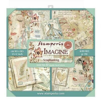 Imagine - Stamperia Double-sided Block 22 Sheet Paper Pad 12