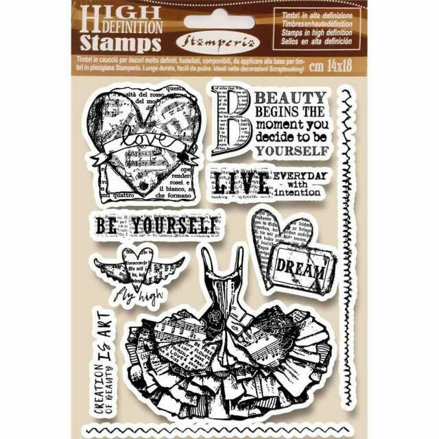 Imagine - Fly High - Unmounted Rubber Stamp