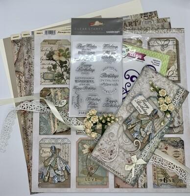 Dress Tag Card - Paper & Embellishment Pack
