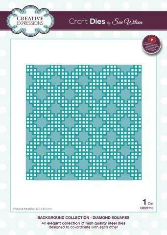 Sue Wilson Background Collection - Diamond Squares Die