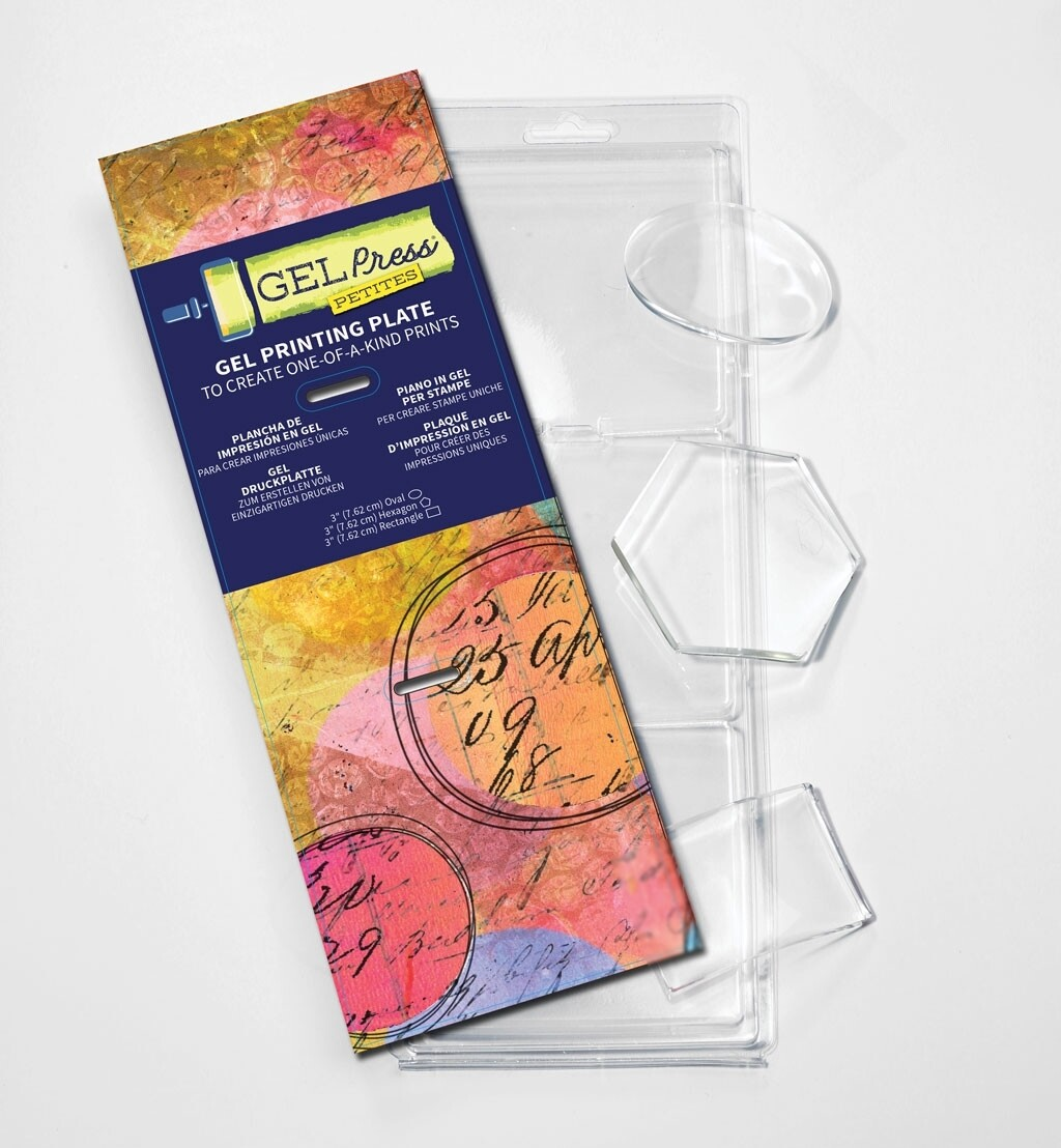 Petites hex oval rec - Gel Press® Mono Printing Plate