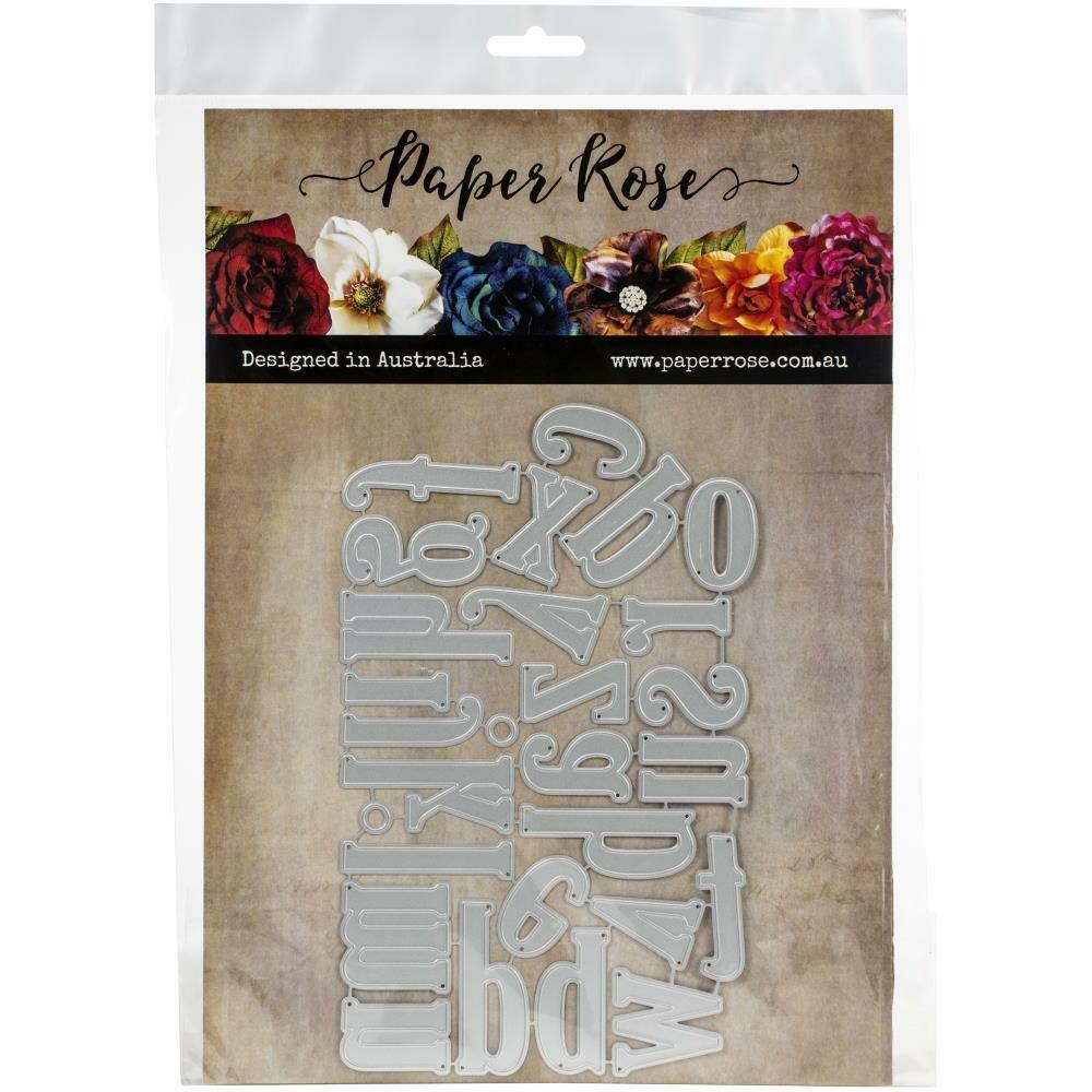 Paper Rose - Jumbo Alphabet Lower Case Metal Die