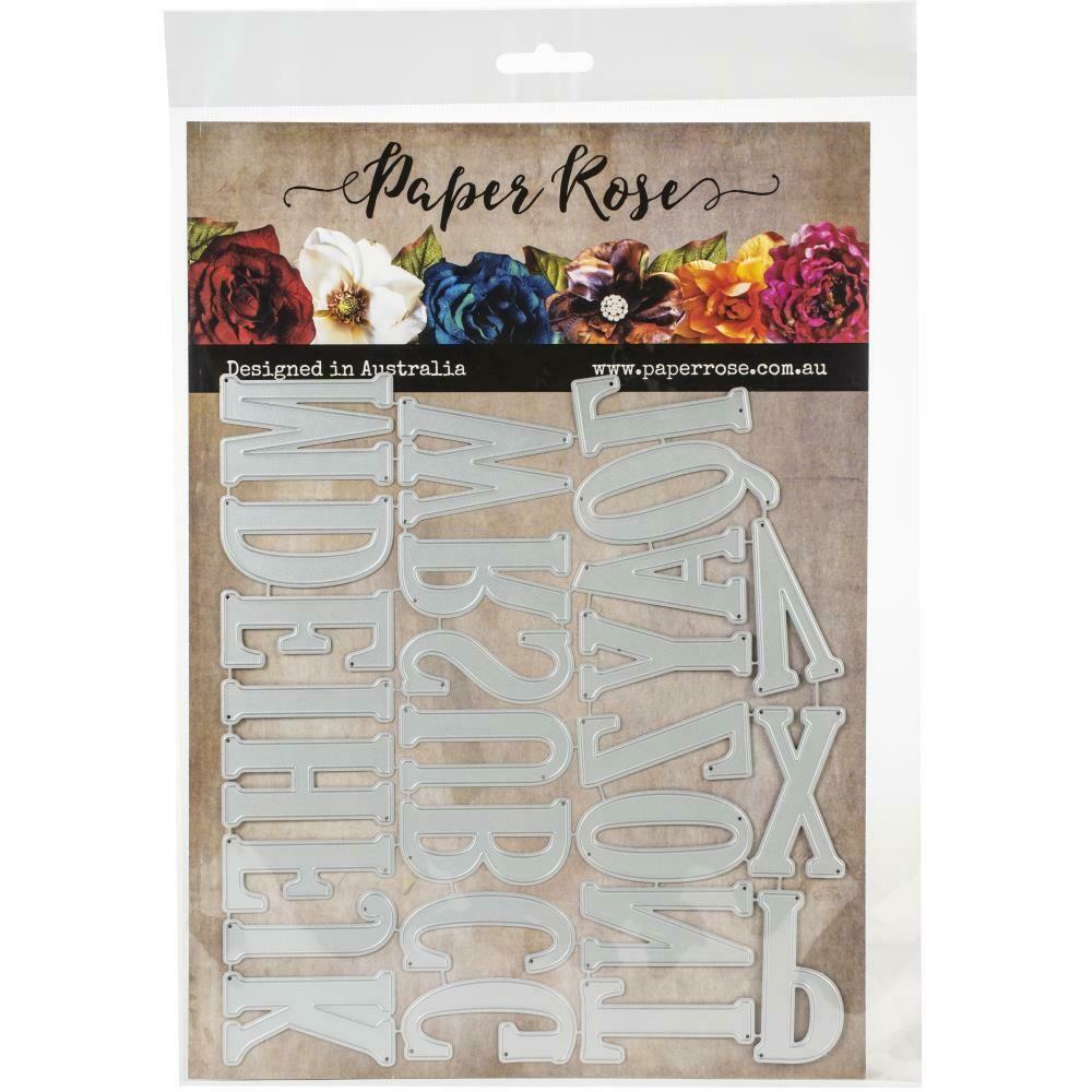 Paper Rose - Jumbo Alphabet Upper Case Metal Die